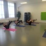 Pilates teaser s overballem a kruhem v Centru tance